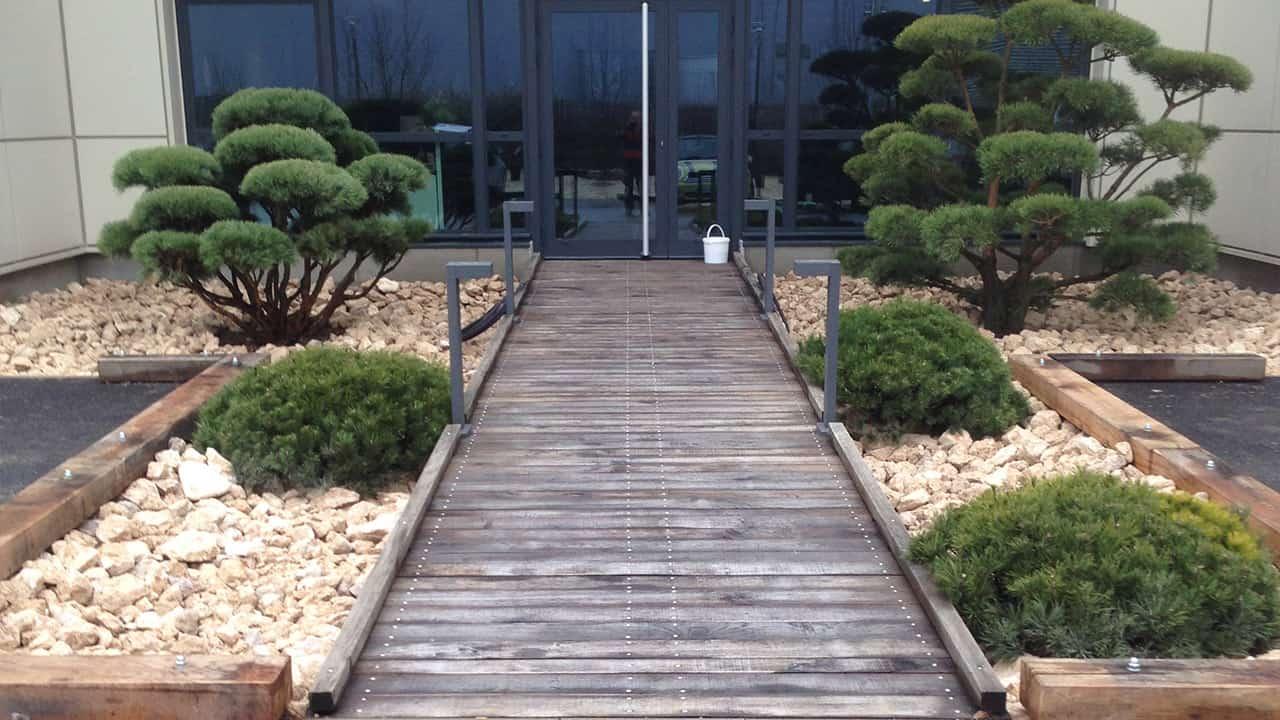 Espaces verts aménagements allées