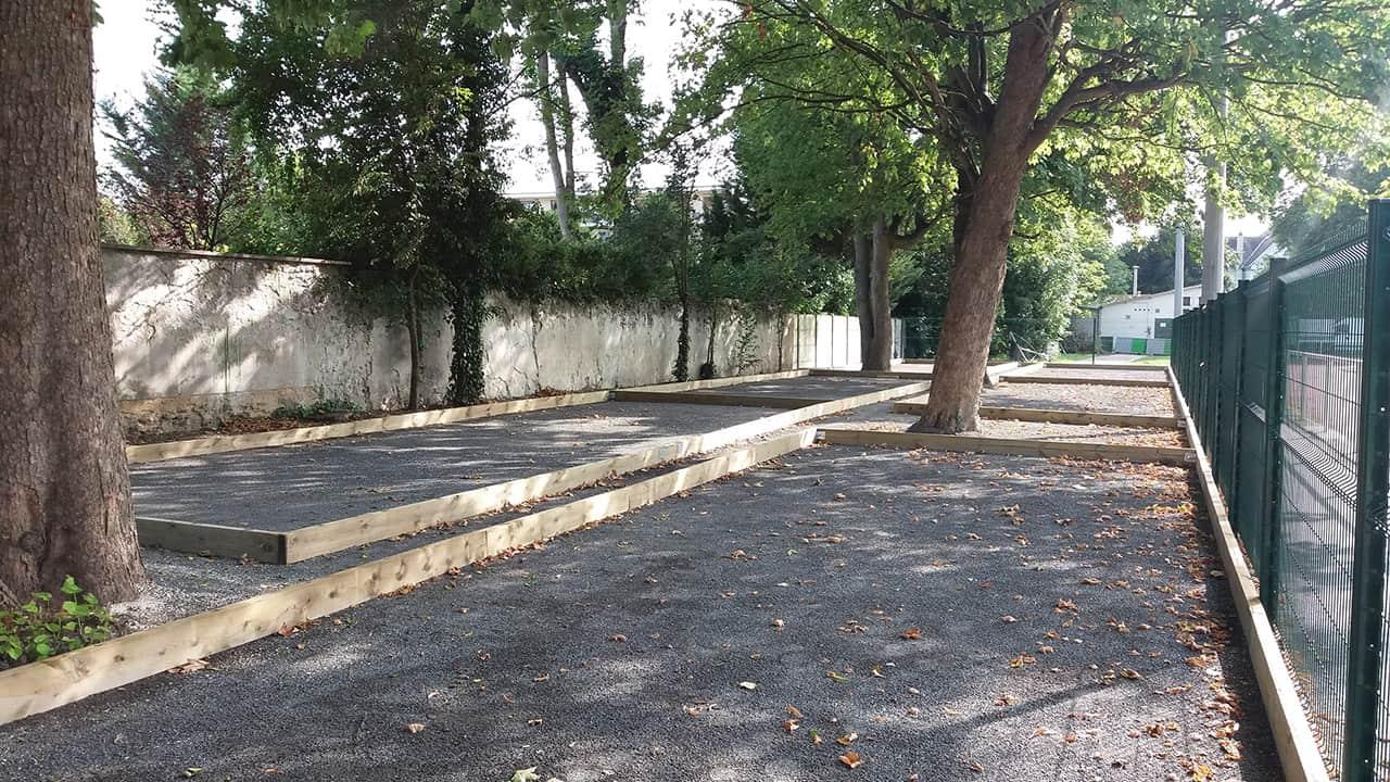 Création de terrains de petanque - Chelles (77)